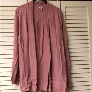 Rose colored fly away cardigan
